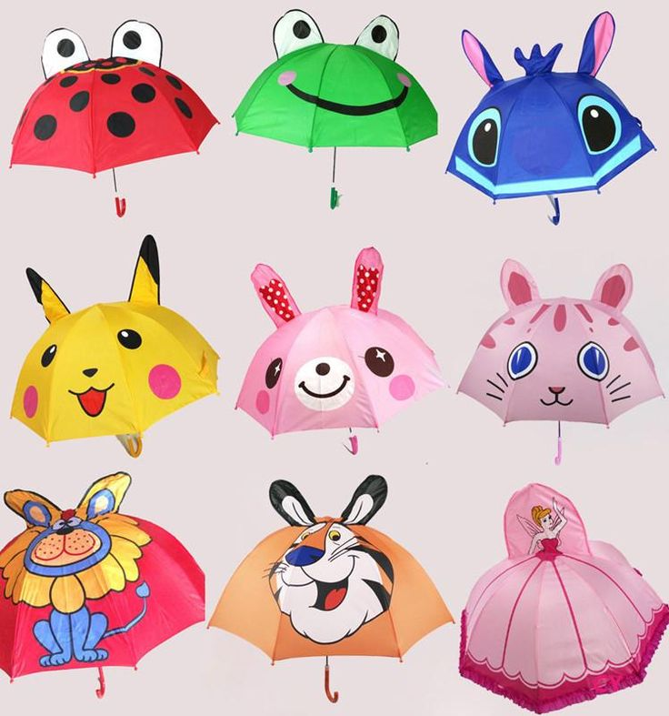[Visit to Buy] Lovely Ear Cartoon Children Kids 3 D Umbrella Cartoon animal child Umbrella Kid's Birthday Gift Baby Cute Umbrella #Advertisement