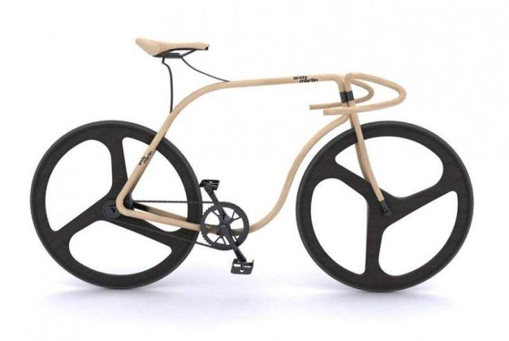 Лондонский дизайнер Энди Мартин и мебельная компания Тонет объединили усилия, чтобы сделать дорожный велосипед из дерева бука
