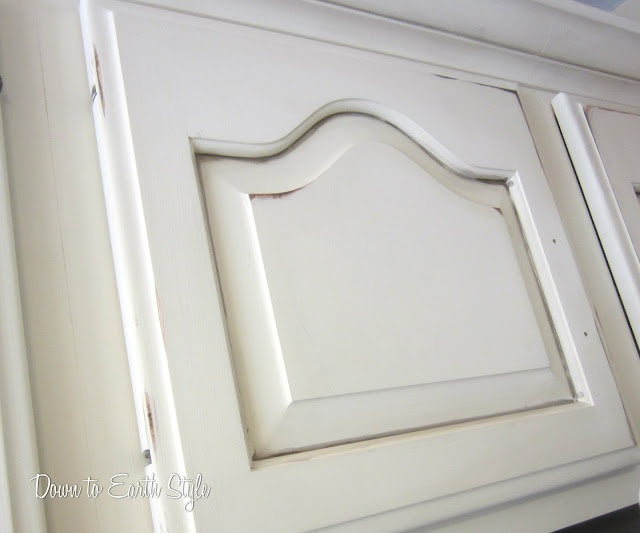 glazing cabinets with baby oil