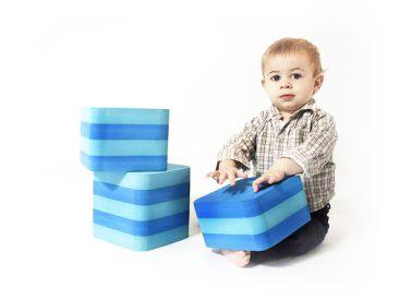 Escalera bloques   Los escalones estan diseñados para trabajar la planificación motriz y coordinación bilateral.