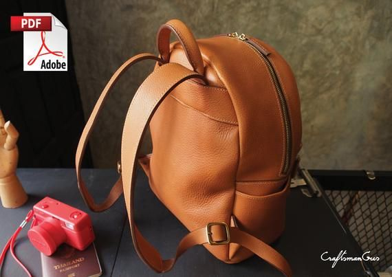 Leather Bag Pattern (PDF Files): Small Backpack (with how to guide)