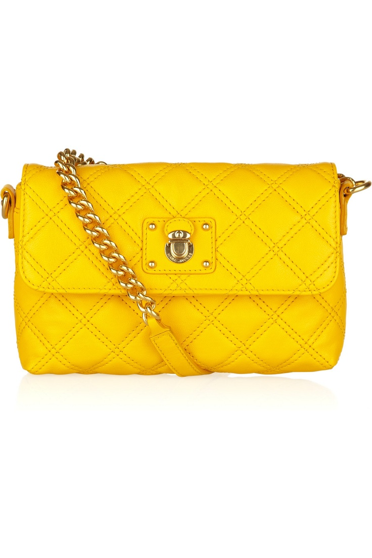 Single Quilted Leather Shoulder Bag, Marc Jacobs