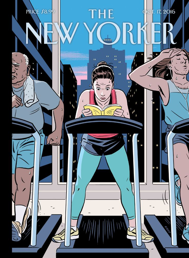 "The New Yorker - Monday, October 17, 2016 - Issue # 4659 - Vol. 92 - N° 33 - Cover ""The Finish Line"" by R. Kikuo Johnson"