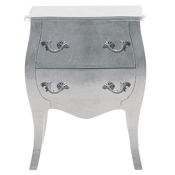 Mesa de Noche Silver 2 Cajones - Bedside Silver 2 drawers