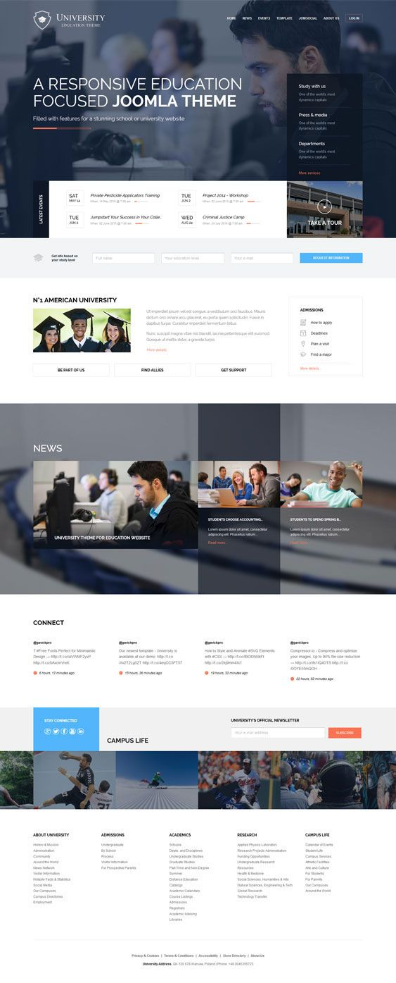 University - Education Theme for School & College by Robert Gavick, via Behance