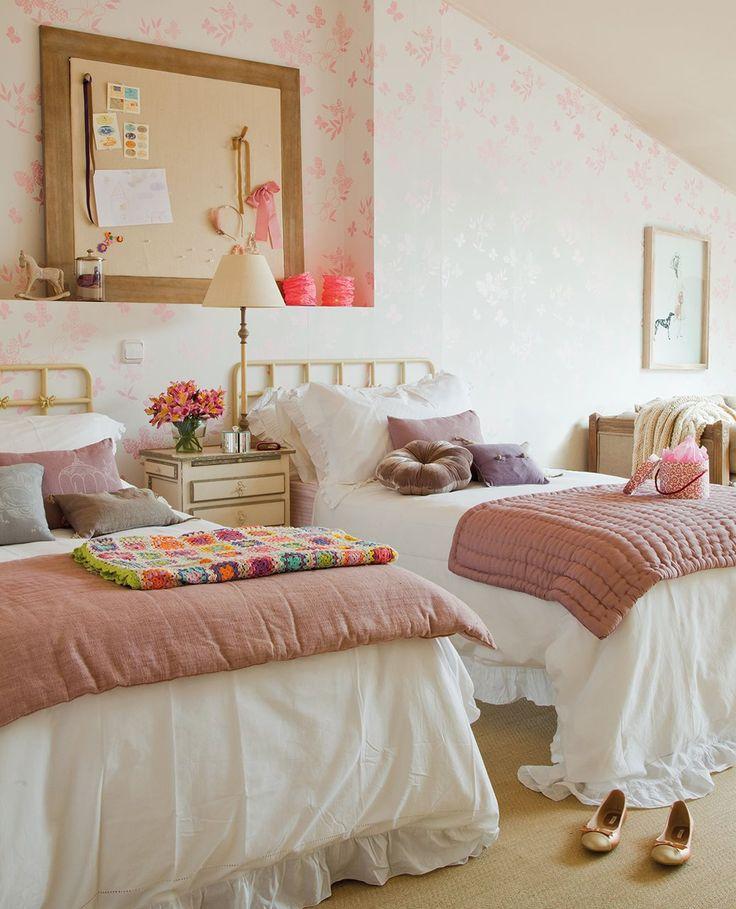 Las 25 mejores ideas sobre habitaci n de chica adolescente - Habitaciones dos camas decoracion ...