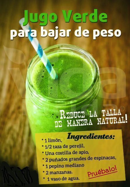 Purifying green juices // Jugos verdes depurativos.