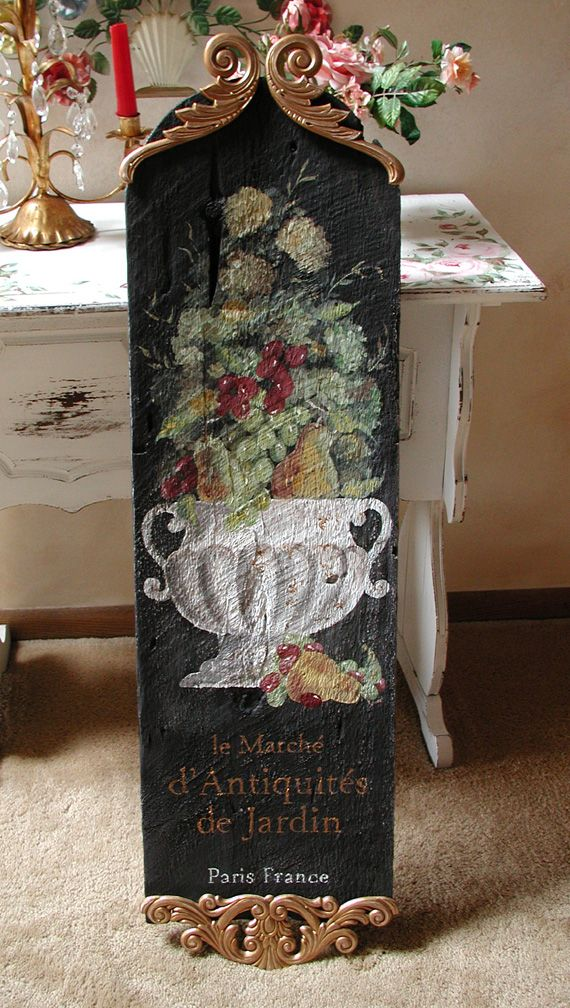 Hand painted French sign,, i wish i could make this!!