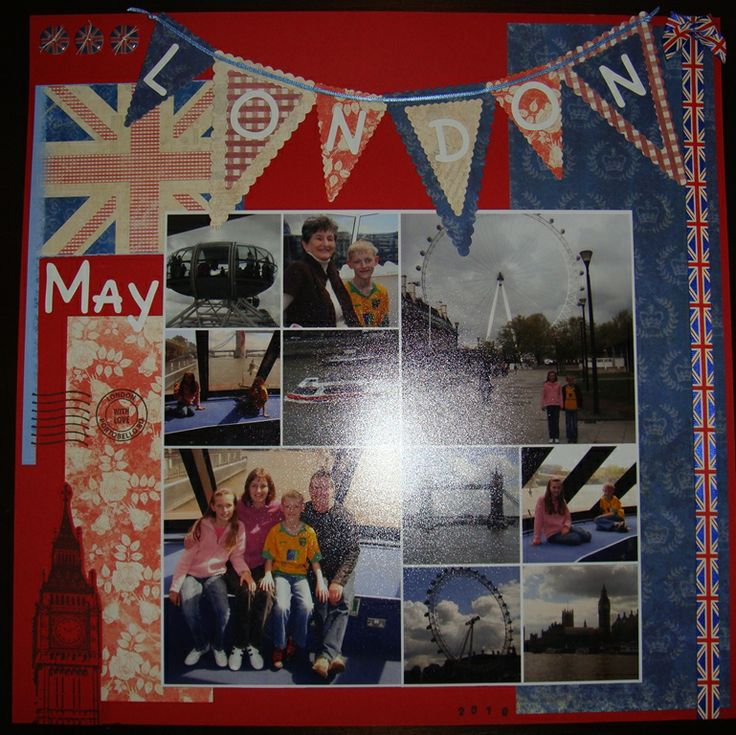 London Scrapbook page by: chocoholicjo