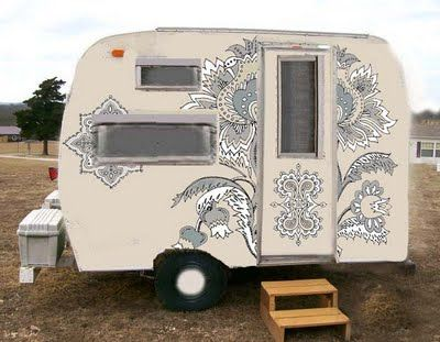 Silver painted swag: Vintage Trailers, Idea, Caravan, Campers Trailers, Travel Trailers, Paint Job, Tiny Trailer, Vintage Campers