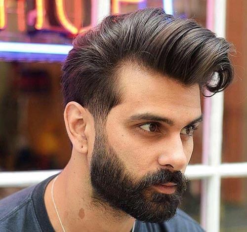 Side Swept Quiff haircut
