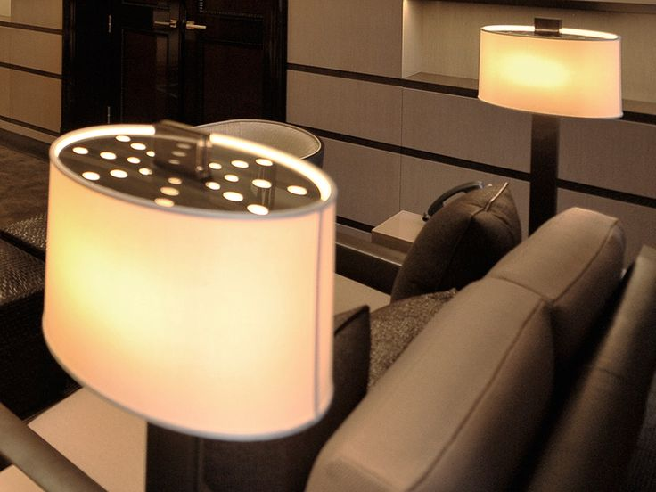 Manhattan, side-table with lamp #TiEffeEsse Furniture Design