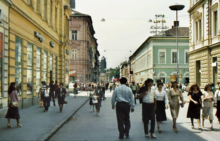 A Kárász utcán 1981 nyarán.