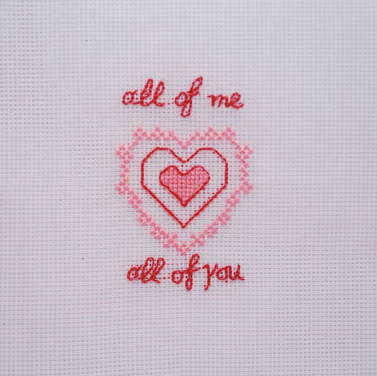 Valentines Gift, cross stitch heart and love song lyrics, love gift, special Anniversary gift, wall art, hand embroidered, Home decoration, by MeandMamaCreations on Etsy