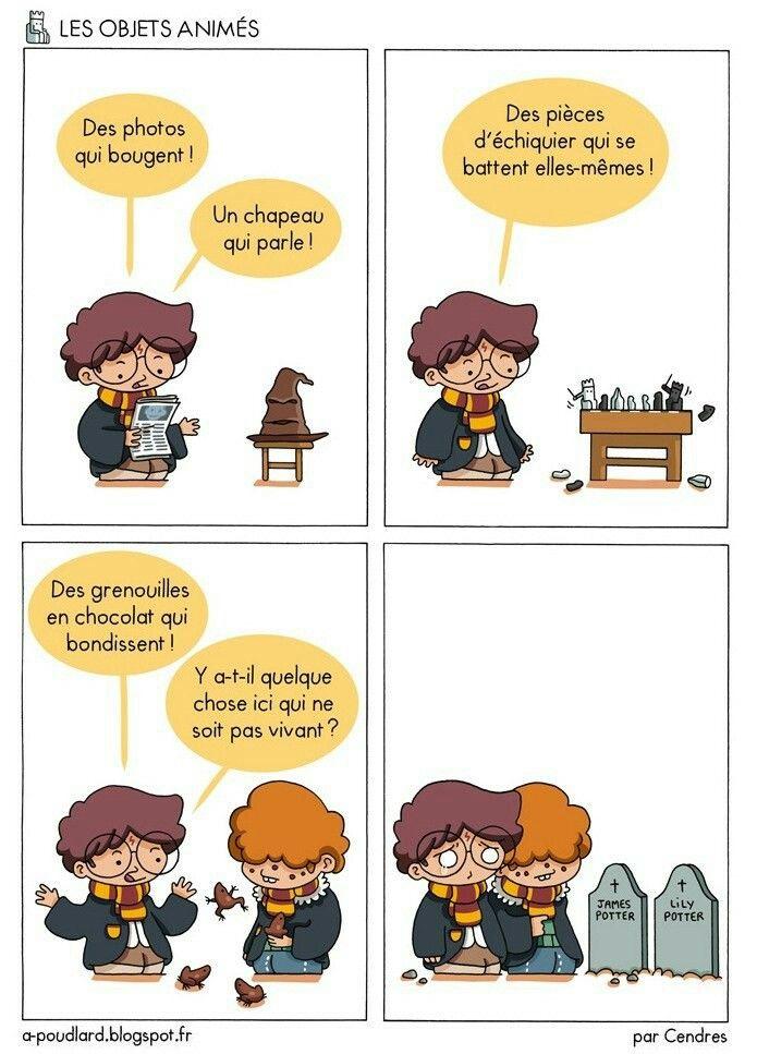 A poudlard - Les objets animés