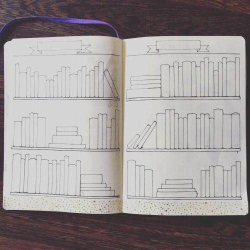 "befransorr:  Ive drew a ""books to read"" spread in my Bullet Journal® so I can…"
