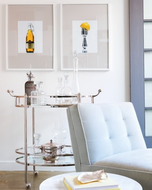 dreamy spaces roll out the bar carts