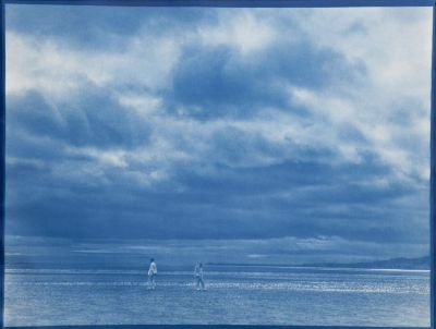 And, wrapt in clouds, 1917 , 17 7/8 x23 5/8inches, cyanotype, 2010