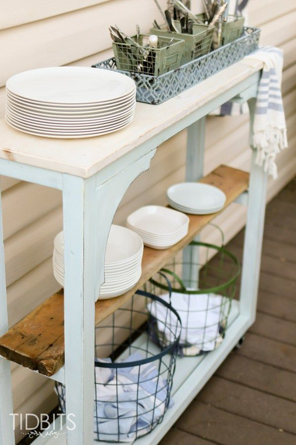 An unloved and outdated deck gets a cottage makeover with thrifted finds, DIY's, and quality, long lasting items. By TIDBITS.