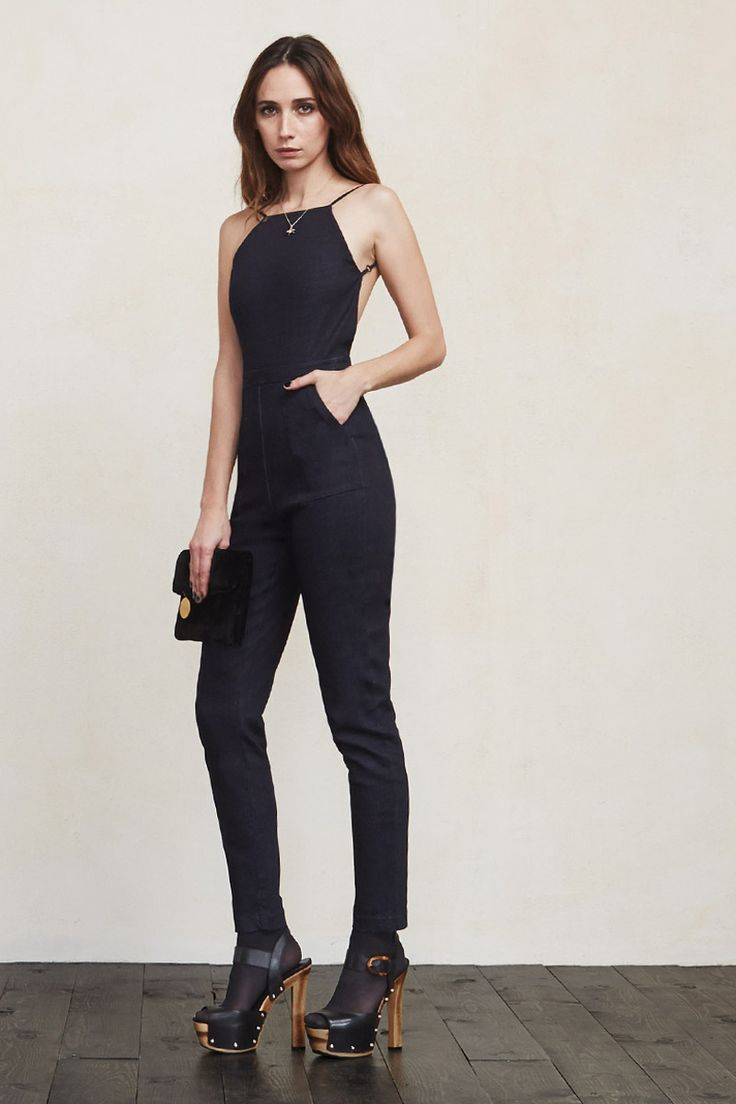 We should have named this jumpsuit Dreams Come True, but instead we named it The Oliver Jumpsuit. It is truly living the dream, sexy and super chic all in one package. This is a high neck backless jumpsuit with criss cross spaghetti strap detailing.    https://www.thereformation.com/products/oliver-jumpsuit-collins?utm_source=pinterest&utm_medium=organic&utm_campaign=PinterestOwnedPins