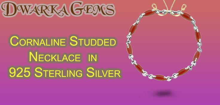 Buy Coralline Studded Necklace in 925 Sterling Silver