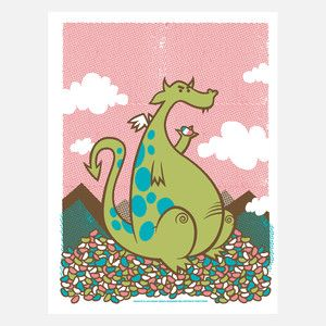 Dragon Of Jellybean Mountain now featured on Fab.