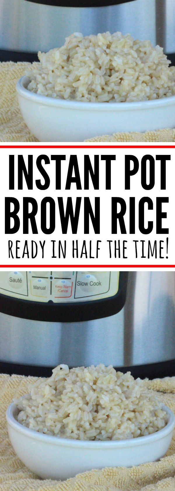 Looking for instant pot recipes? Try this brown rice pressure cooker recipe. Pressure cooker brown rice is ready in half the time of traditional cooking!