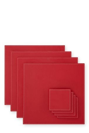 Buy Set Of 8 Reversible Faux Leather Mat Set from the Next UK online shop