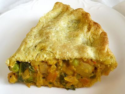 samosa potpie slice. I might try this but likely with a store-bought pie crust