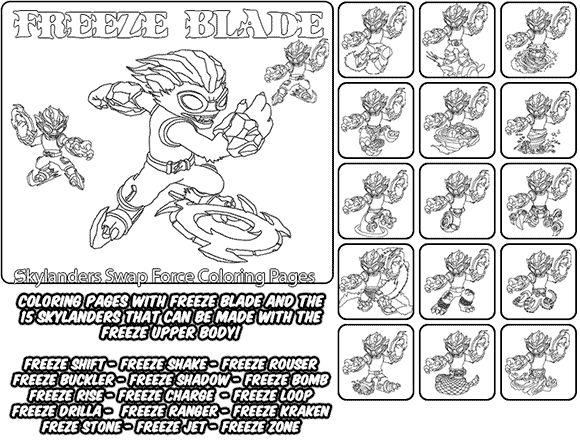 skylanders coloring pages freeze blade - photo#16