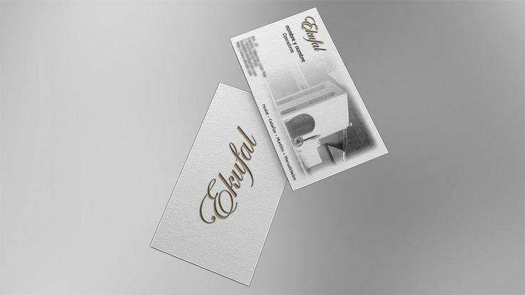 2009: This is a business card I designed for Ekufal.com. // Esta es la tarjeta de presentación que diseñé por Ekufal.com.
