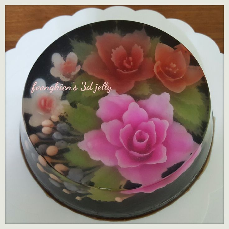FLOWER INFILL Pink: Dragon fruit Red: Beet root Green: Matcha powder Purple: Purple cabbage White: Milk BASE Grass jelly