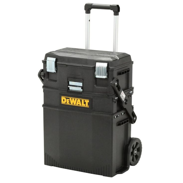 DEWALT 16 in. 4-in-1 Cantilever Tool Box Mobile Work Center with Removable Tray, Black