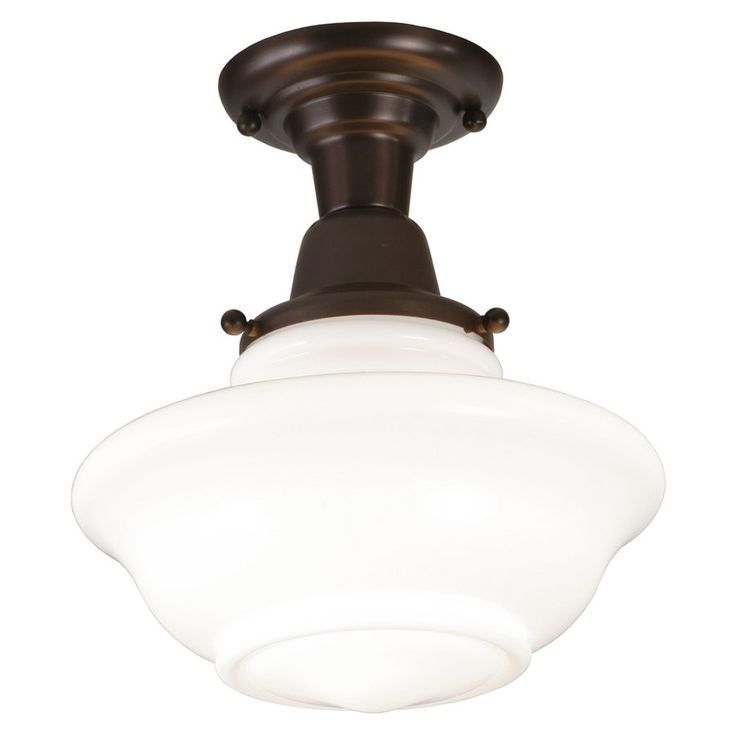 Allen roth w oil rubbed bronze frosted glass semi flush mount light at lowes with versatile style and bright illumination this semi flush mount light