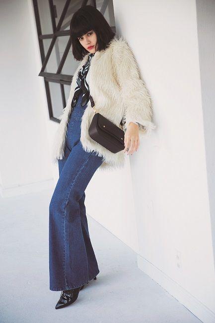 着回し大作戦,ViViモデル,emma,ファッション,エコファーコート,コート,vivi1月号