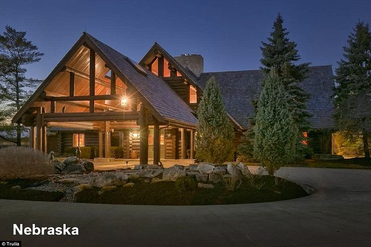 17 best images about usa nebraska on pinterest for Extravagant log homes