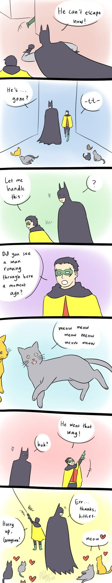 Because Damian can speak cat-language