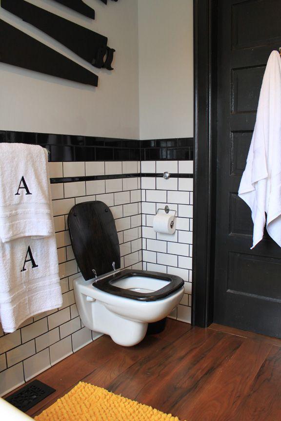 love the modern black and white bathroom #modern #inspiration #design