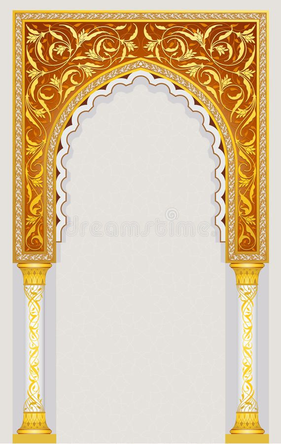 Islamic Art Arch High Detailed Islamic Arch Design In Vector Illustration Aff Arch High Islam Islamic Art Islamic Art Pattern Islamic Art Calligraphy