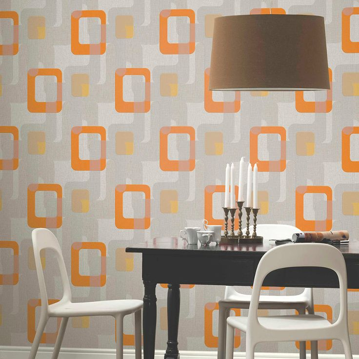 Pu0026S International Novara Retro Wallpaper In Orange   13460 50. Retro  WallpaperWallpaper IdeasDining Room ...