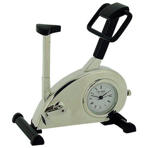 Miniature Exercise Bike Black Novelty Quartz Movement Collectors Clock - 9727