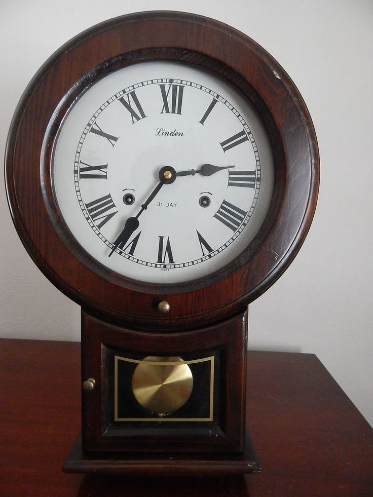 Linden 31 Day Chime Pendulum Wall Clock W Key Korea