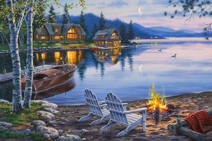Evening at the Lake — Darrell Bush Art