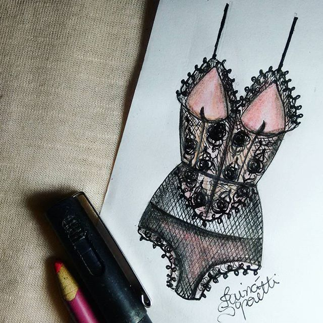 Tainá Saporetti lingerie illustration