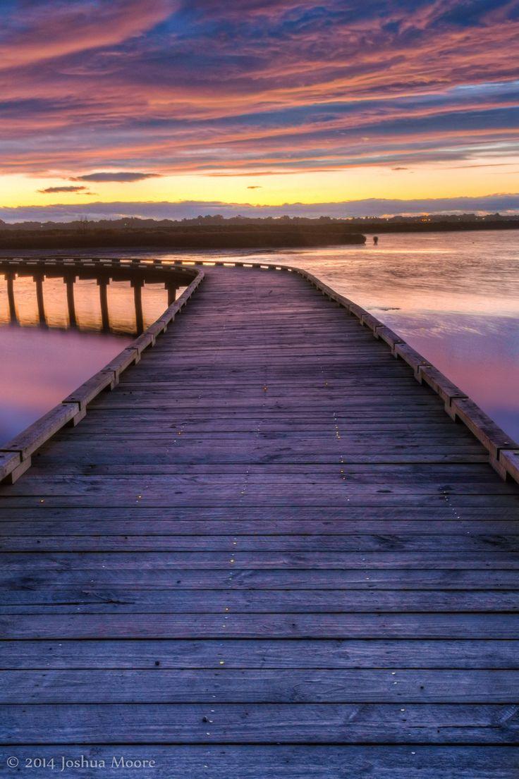Boardwalk at sunset, Invercargill, New Zealand