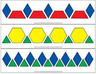 Pattern Block Activity Printables | Confessions of a Homeschooler
