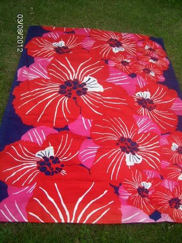 Tampella Finland Metsovaara vintage fabric