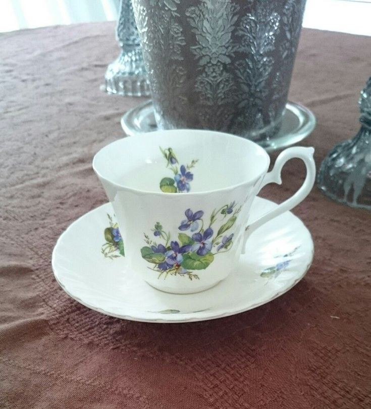 Royal Kendal Purple Flower Teacup And Saucer  | eBay