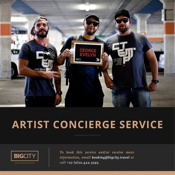 Artist Concierge at CTEMF 2015. #Cape #Town #Events #SouthAfrica #Music #Festival #Services #Bigcity