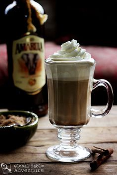Amarula Coffee...Amarula is a cream liqueur from South Africa made from the fruit of the African marula tree.